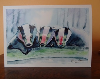 Chritmas card - Save the Badgers