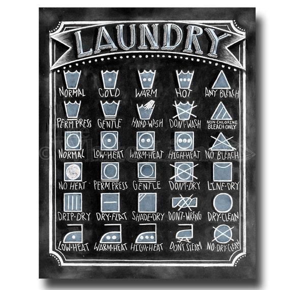 Laundry Symbols Art Laundry Room Sign Laundry Symbols Laundry Sign Laundry Room
