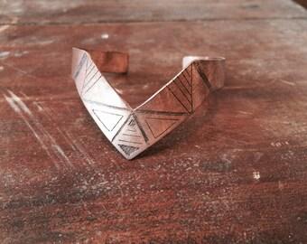 Cuff Bracelet, Copper