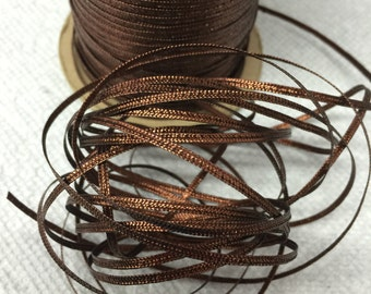 20 Yards of Vintage Brown Metallic Cord- Made in Japan. Metallic Cords,Draft Cords, Vintage Cords, Fine Cords.