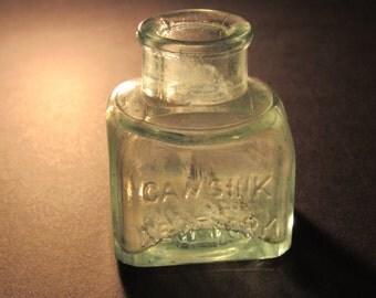 Caws ink 1800s ink bottle