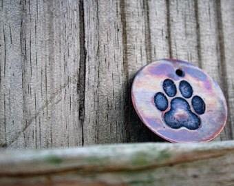 Paw Print - Pet Tags - Pet ID Tag - Dog Tag - Dog ID Tag - Custom Dog Tag - Personalized Dog Tag - Cat Tag - custom pet tag -
