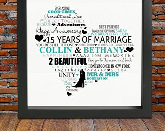 15th Wedding Anniversary Gift Ideas For Parents : 15th Anniversary gift -15th wedding anniversary gift, 15th wedding ...