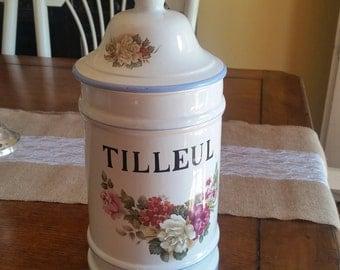 Floral Tilleul Tea Jar