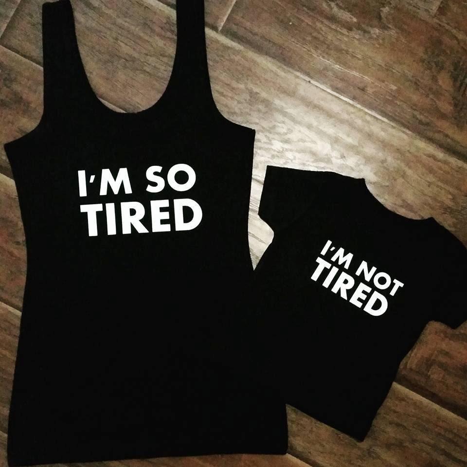 I'm So Tired I'm Not Tired Set By BabyBuckShop On Etsy
