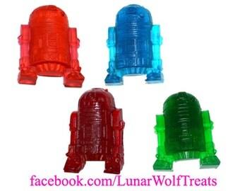4 Small Gummy R2D2s