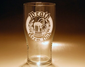 20 oz. Pilsner Beer Glass - Personalized