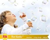 70 Bubble Photoshop Overlays - Scrapbooking - Real Bubbles - DSG036