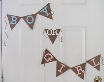 Gender Reveal Banner - Boy or Girl Banner - Baby Banner