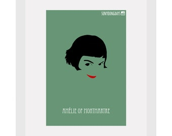 Amelie Of Montmartre movie poster postcard 4'X6'