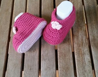 Baby Shoes , Crochet Baby Booties , Baby Girl  Booties , Slippers