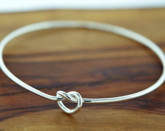 925 Sterling Silver Small Knot Bangle