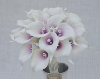 No. 40603 Calla Lily Wedding   Bouquet - Artificial Flower Bouquet, Artificial Flower, Wedding Bouquet, Bridesmaid Bouquet.