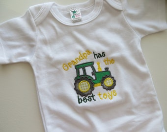 Tractor bodysuit, Tractor Kids Shirt, Tractor nursery, Grandpa Gift, Grandpa Tractor shirt, Daddy Tractor bodysuit