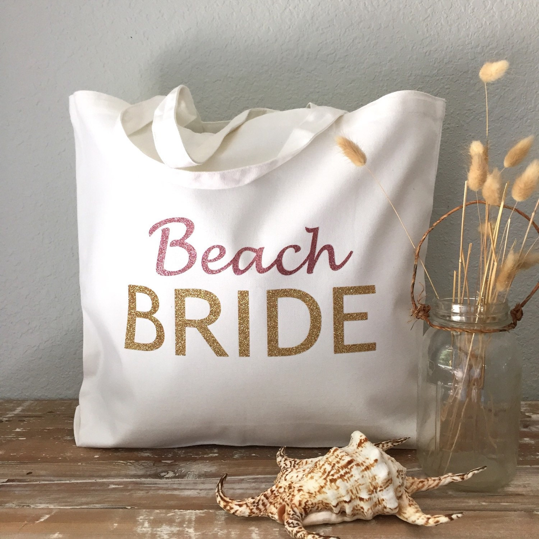 Beach Bride Tote Bag Bride Tote Wedding Tote Or Honeymoon