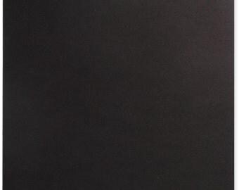 "New Black Chipboard 12""x12"" (.057"") Thick + (1) Theme Design Album"