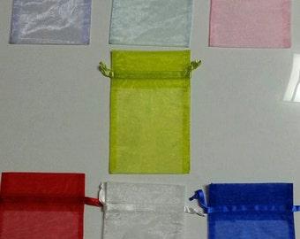 """4""""w x 6"""" h Organza Mesh Bag Assorted Colors"""