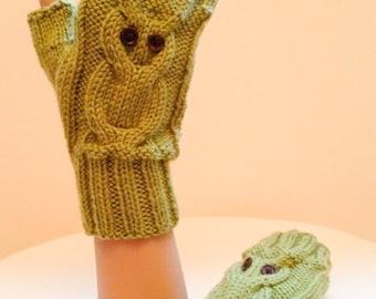 Owl mitten pattern Etsy