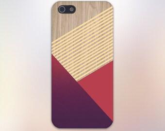 Maroon Crimson Striped Wood Print Phone Case, iPhone 7, iPhone 7 Plus, Tough iPhone Case, Galaxy s8, Samsung Galaxy Case, Note 5 CASE ESCAPE