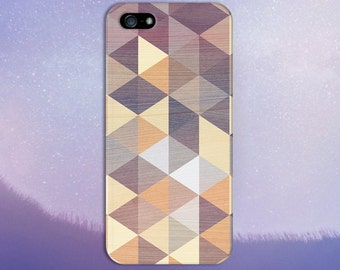Geometric Colored Wood Triangles Phone Case for iPhone 6 6 Plus iPhone 7  Samsung Galaxy s8 edge s6 and Note 5  S8 Plus Phone Case