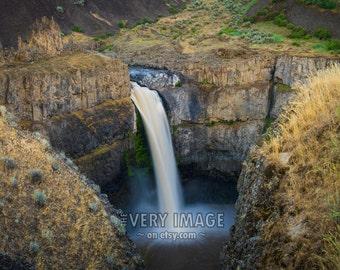 Waterfall Photo Palouse Falls Washington State Desert Landscape Photograph Wall Art Home Decor Print #vi76