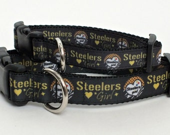 Steelers Girl Dog Collar, pittsburgh