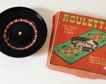 Vintage roulette wheel, quirky mid century trinket dish or jewellery dish