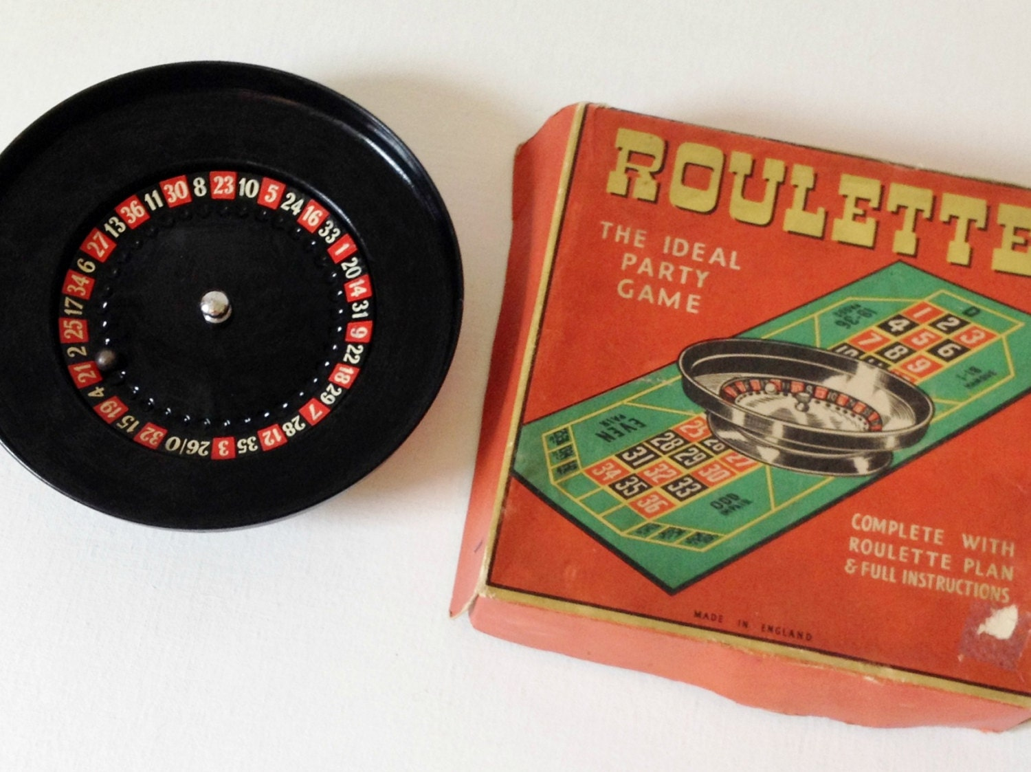 vintage roulette wheel quirky mid century trinket by goodsgarb. Black Bedroom Furniture Sets. Home Design Ideas