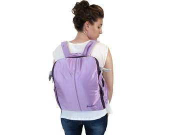 Designer diapers bag functional and stylish High quality mom's bag Baby bag perfect gift integral Changing Pad backpack newborn Purple