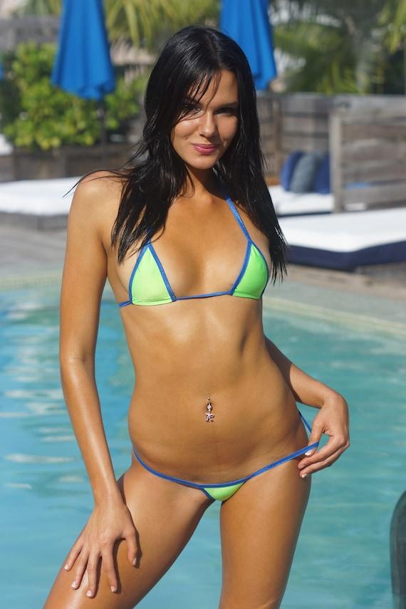 Bitsy S Bikinis Neon Green Scrunch Butt Bikini By
