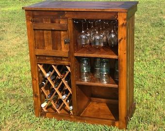 Rustic Wine Bar Cabinet