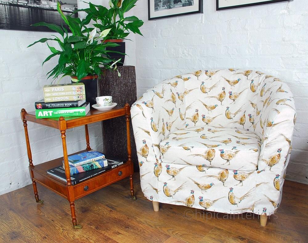 slip cover for the ikea ektorp tullsta tub chair in pheasants. Black Bedroom Furniture Sets. Home Design Ideas