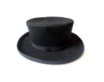 FRENCH wool antic Top Hat size 59