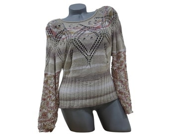 Thin summer knitwear - Handknit sweater - Summer sweater - Womens knitwear