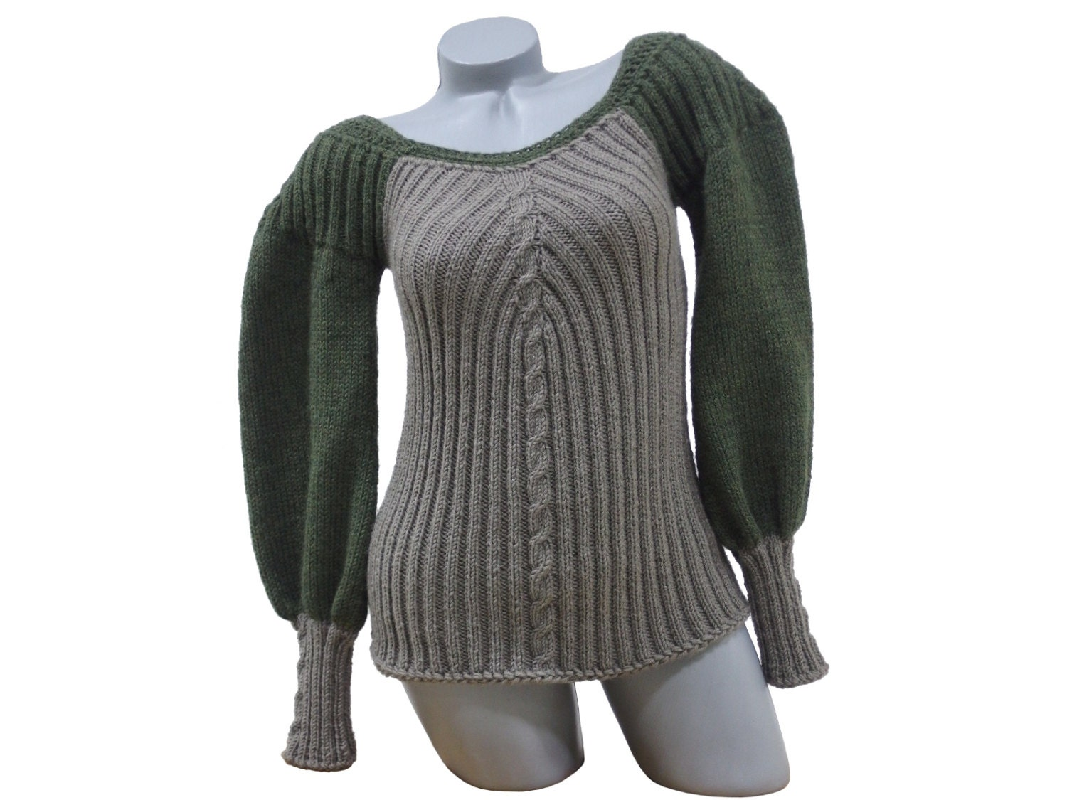 Boat neck womens sweater Long sleeve knit pullover