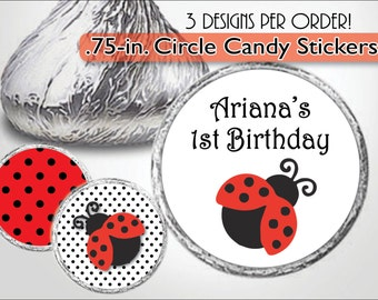 Ladybug Kiss Sticker, 1st Birthday Kiss Label, Candy Buffet, Baby Shower Candy Sticker, Lady Bug Sticker, Ladybug Kiss Label, First Birthday