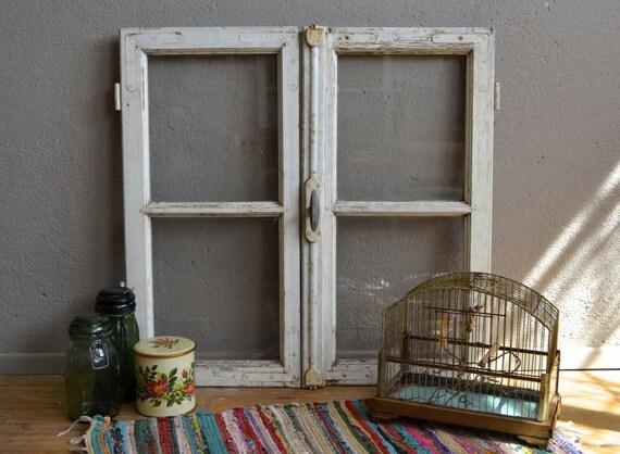 fen tre ancienne double battant patine vintage d co boh me. Black Bedroom Furniture Sets. Home Design Ideas