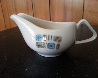 Vintage Mid-Century Canonsburg Temporama Gravy Boat - Cool Atomic Age Design - 2 Available