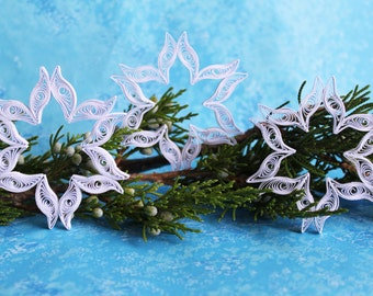 CORTINA D'AMPEZZO snowflakes - Paper quilled ornaments - Christmas decoration - Handmade gift