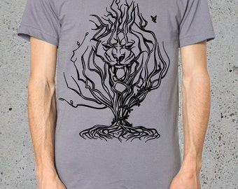 Tree Of Life Shirt,Tree T Shirt,Lion Shirt,Lion T shirt.American Apparel Mens Graphic Tee'__/Boyfriend/()Instagram Like