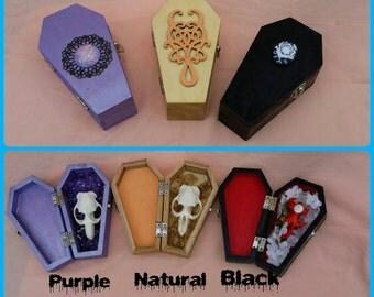 RIP muskrat in natural wood coffins