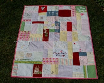 Baby clothes memory quilt - Custom made