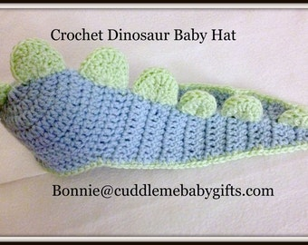 Baby Shower Baby Dinosaur Baby Crochet Hat Photo Prop Baby Boy Baby Shower Gift Baby Shower Decor