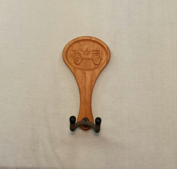 Guitar hanger army jeep carving by