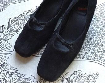 Vintage LL Bean Suede Dress Shoes Womens Size 9M