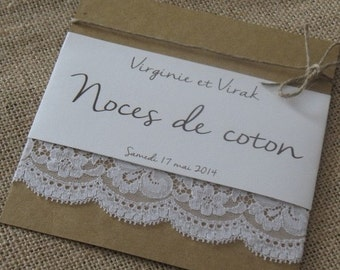 Announcements range coton| |noces