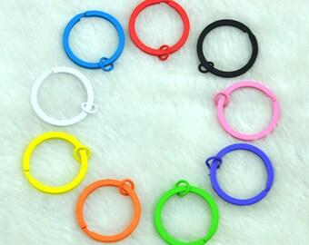 30mm High quality 9 Colors Keychain, variety of colours Key chains,Key ring,Round keyring,Split Key Ring--G1796