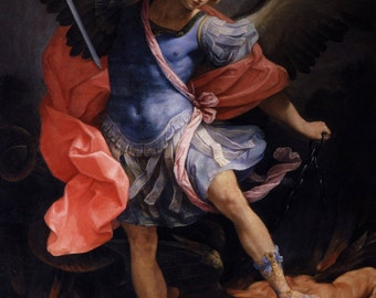 Guido Reni: The Archangel Michael Defeating Satan. Fine Art Print/Poster.
