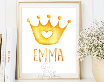 Personalized Name Print Nursery decor Art Wall Decor personalized newborn print calligraphy Custom Name baby girl princess baby name 51