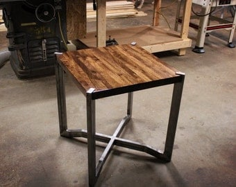 Manliest Table Ever Made - Walnut Butcher Block End Table